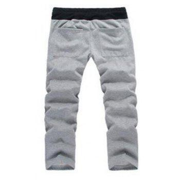 Men's Sports Casual Daily Hoodie Solid Hooded Micro elastic Cotton Long Sleeves Suit - GRAY XL