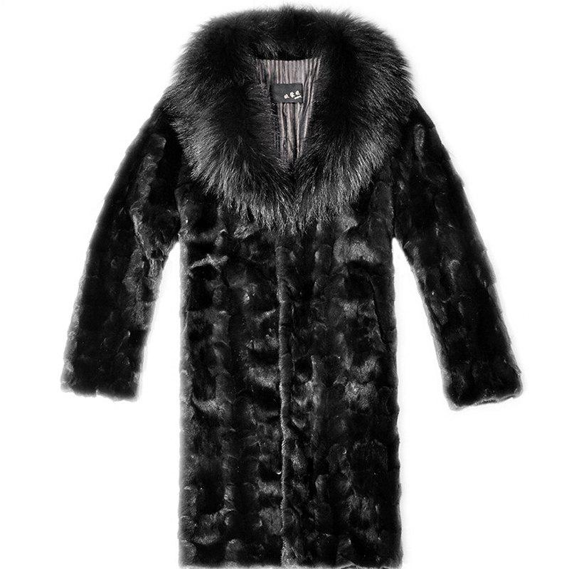 Men's Plus Size Casual Daily Simple Fall Winter Fur Coat Solid Shirt Collar Long Sleeve Long Faux Fur new winter women long style down cotton coat fashion hooded big fur collar casual costume plus size elegant outerwear okxgnz 818