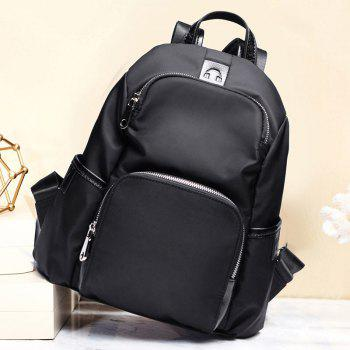 SITIYA Women's Simple Design Fashion Leather Backpack Daypack Purse Shoulder Bag for Ladies - BLACK