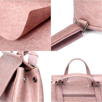 SITIYA Vintage Leather Backpack for Girls Schoolbag Casual Daypack Shoulder Bag - PINK