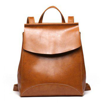 SITIYA Vintage Leather Backpack for Girls Schoolbag