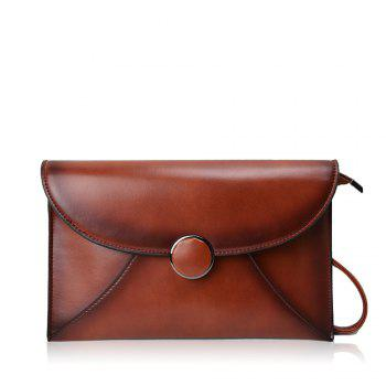 Korean fashion and durable envelope flip type tide shoulder diagonal bag - BROWN D STYLE BROWN D STYLE