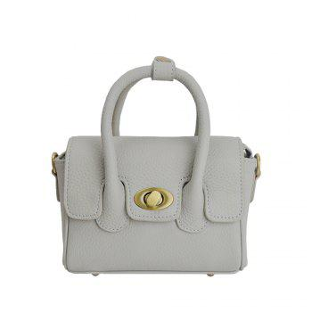 New handbag leather embossed leather shoulder bag small - SILVER SILVER