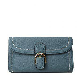 Shoulder diagonal cross European style handbag - LIGHT BLUE LIGHT BLUE