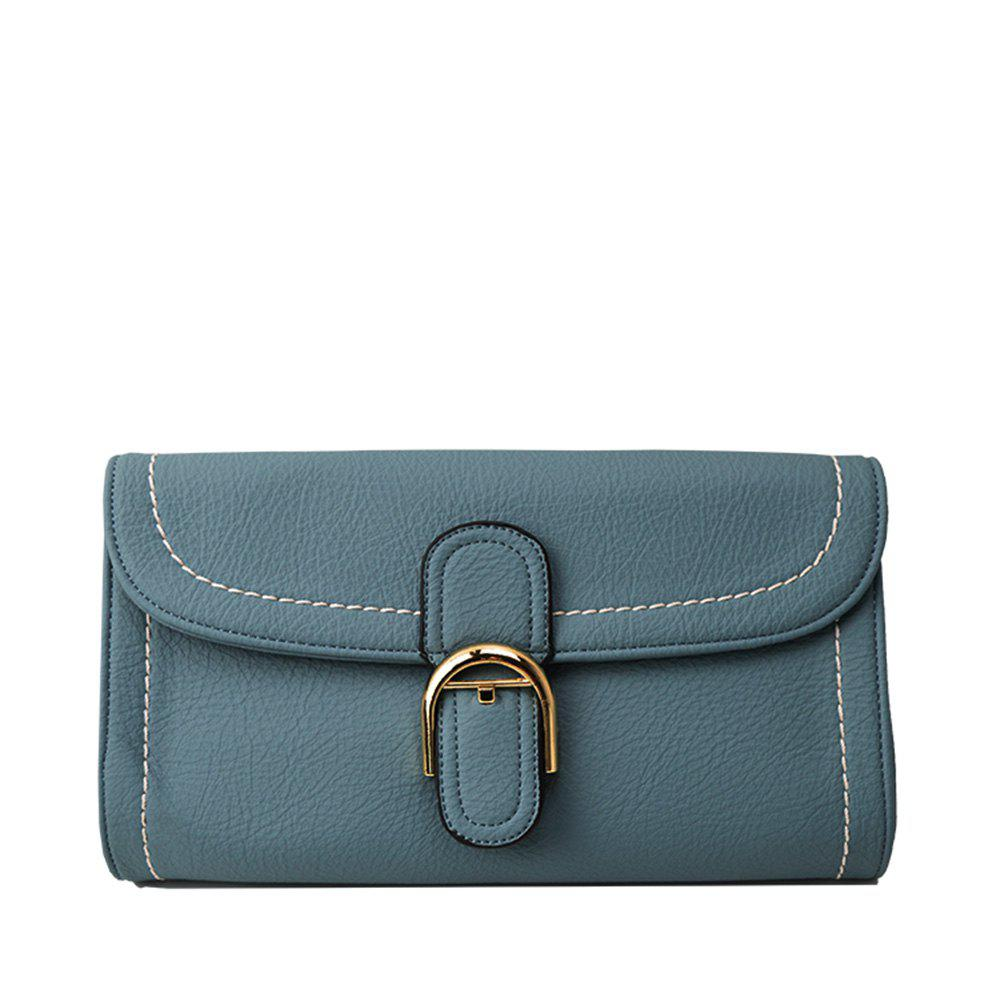 Shoulder diagonal cross European style handbag - LIGHT BLUE