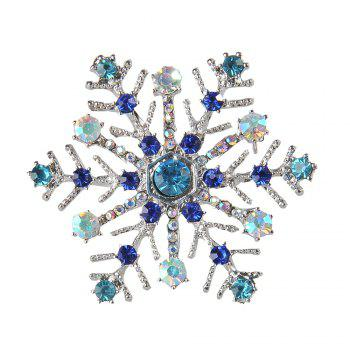 Snowflake Charms Pendants Pins Christmas Brooch Women Brooches Pins Decoration Xmas Merry Xmas Gifts - COLORFUL COLORFUL