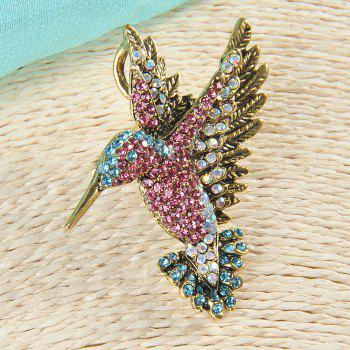 Colorful Rhinestone Hummingbird Brooch Animal Brooches for Women - COLORFUL