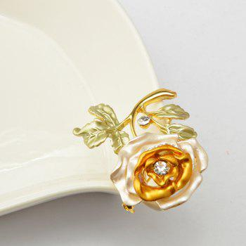 Rose Flower Brooch Garment Accessories Wedding Bridal Jewelry Crystal Brooches for Men and Women - DAISY