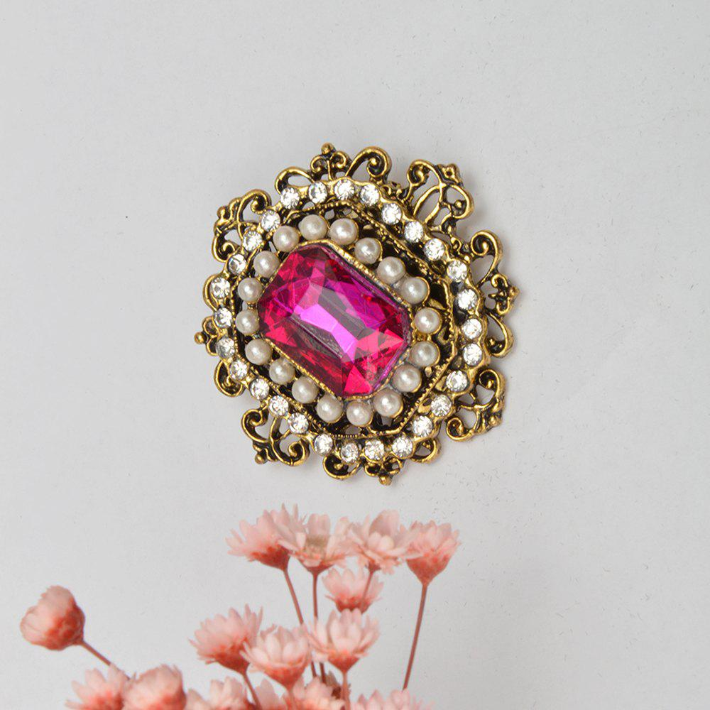 Vintage Brooches Pin with Large CZ Stone Pendent waterdrop Rhinestone Unique Red jewelry Green jewelry 4 colors - SANGRIA
