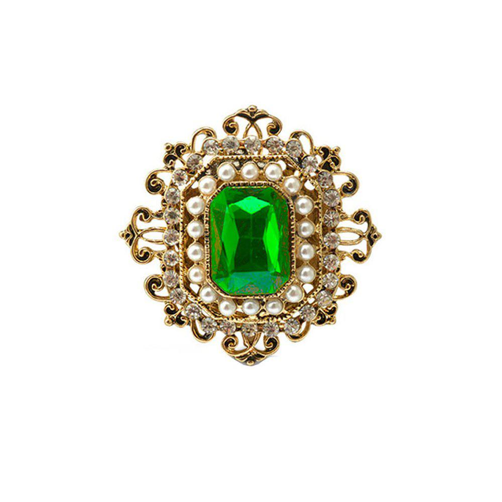 Vintage Brooches Pin with Large CZ Stone Pendent waterdrop Rhinestone Unique Red jewelry Green jewelry 4 colors - IVY