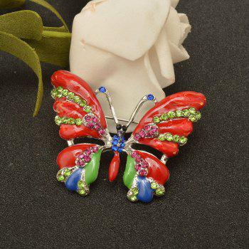 Vintage Jewelry Large Enamel Butterfly Brooches Brooch Wedding Brooch Insect Hijab Pin Brooches For Women And Girl -  RED