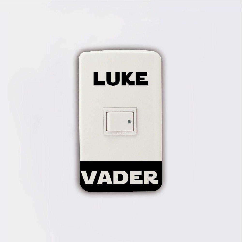 Light Switch Sticker Darth Vader Luke Skywalker Vinyl Wall Stickers Home Decor iwhd iron pendant lights led modern kitchen hanging lamp color metal light fixtures suspension luminaire home lighting lamps