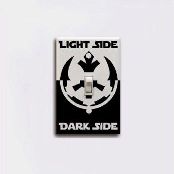 Dark Side Light Side Switch Sticker Movie Vinyl Wall Sticker Home Decor - BLACK 11.4 X 7.2 CM