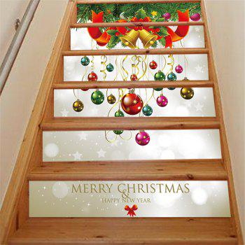 ZB013 Personalized Christmas 3D Self-Adhesive Painting Decoration Home Drawing Living Room Stairs Sticker - MIXCOLOR 18 X 100CM X 6