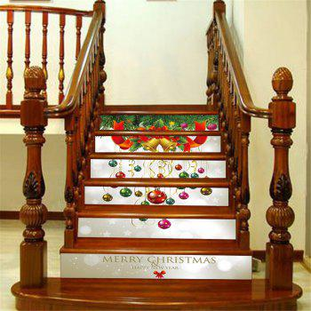 ZB013 Personalized Christmas 3D Self-Adhesive Painting Decoration Home Drawing Living Room Stairs Sticker - MIXCOLOR MIXCOLOR