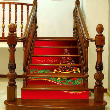ZB014 Personalized Christmas Tree 3d Self-Adhesive Painting Decorative Stairs Sticker - MIXCOLOR MIXCOLOR