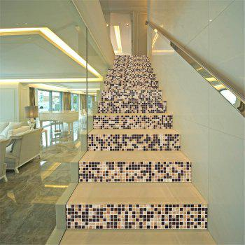 ZB22 Small Square Retro Mosaic Self-Adhesive Decorative Stairs Sticker - MIXCOLOR MIXCOLOR
