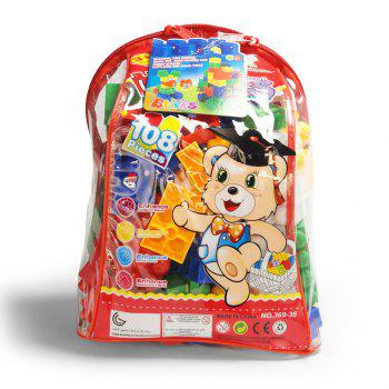 Children pp big granule puzzle early education plastic collage of building block toy small backpack collection - COLORMIX COLORMIX
