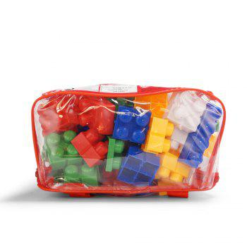 Children pp big granule puzzle early education plastic collage of building block toy small backpack collection - COLORMIX