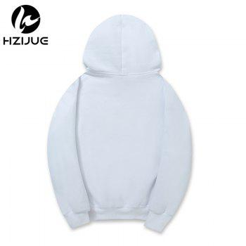 Men'S Letter Printed Hoodie - WHITE M