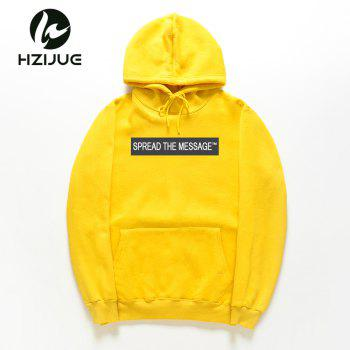 Men'S Letter Printed Hoodie - MAIZE XL