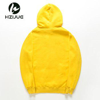 Men'S Letter Printed Hoodie - MAIZE M