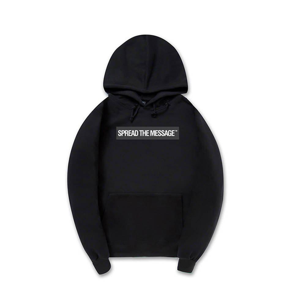 Men'S Letter Printed Hoodie - BLACK 2XL