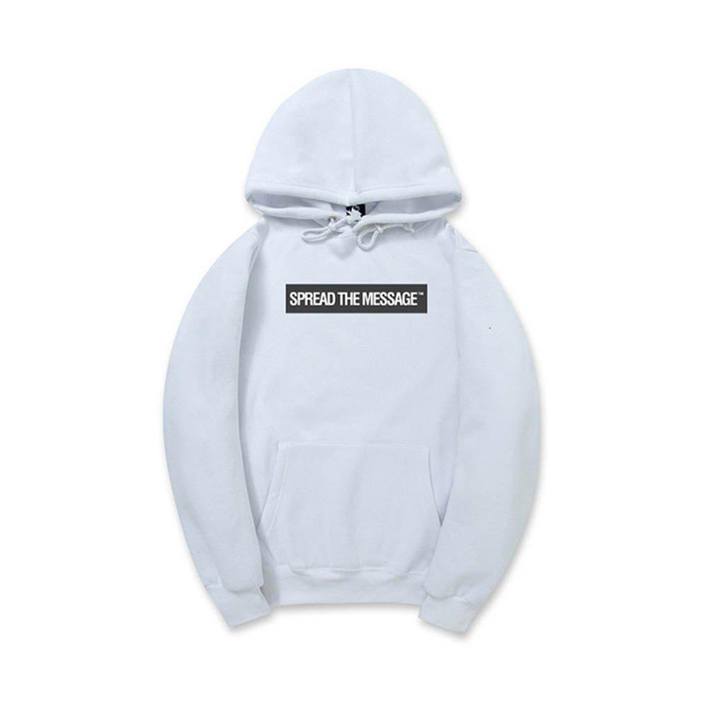 Men'S Letter Printed Hoodie - WHITE 2XL