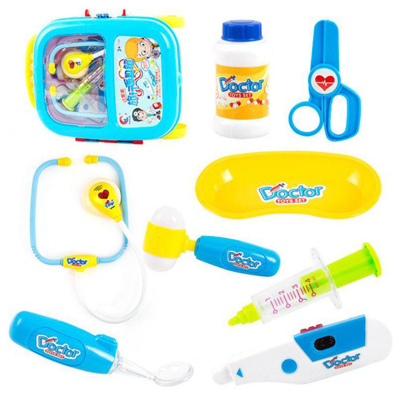 Nurse Doctor Toy Hospital Simulation Kids Baby Funny Play Set Children Gift Medicine Cabinet Role Pretend Play Medic - BLUE