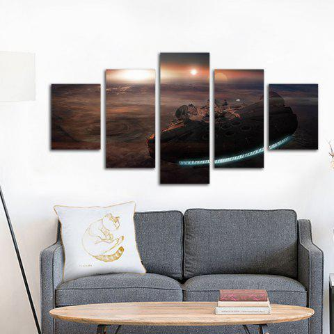 Modern Canvas Art Prints Unframed Home Office Wall Decal 5pcs - COLORMIX