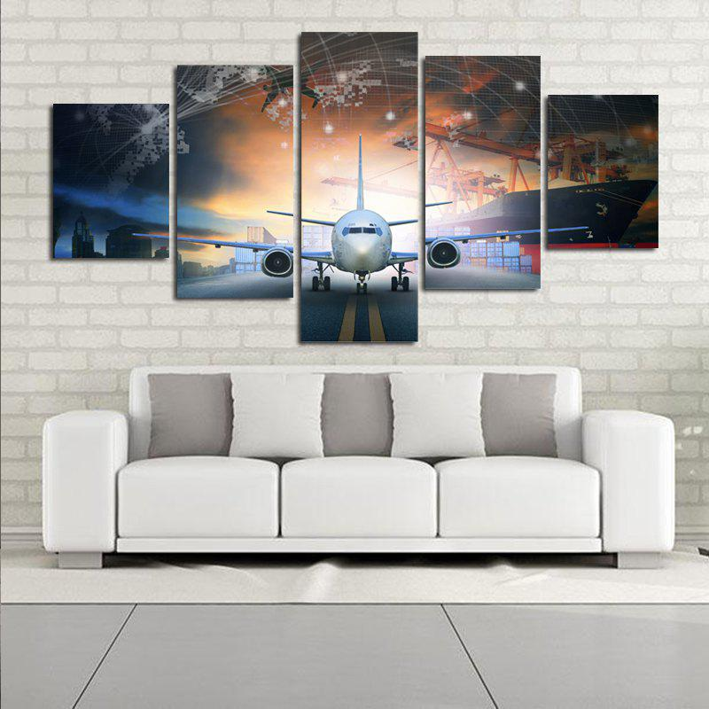 Modern Frameless Canvas Prints Creative Home Wall Decoration 5pcs - COLORFUL