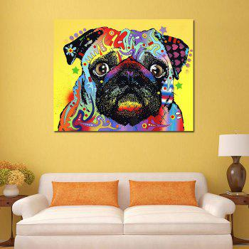 Modern Frameless Canvas Print of Dog Home Wall Decoration - COLORFUL 16 X 12 INCH (40CM X 30CM)
