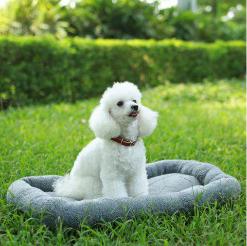 Lovoyager A100 New Autumn and Winter Extra Thick Warm Lamb Velvet Anti-Slip Breathable Dog Nest - GRAY M