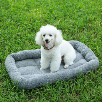 Lovoyager A100 New Autumn and Winter Extra Thick Warm Lamb Velvet Anti-Slip Breathable Dog Nest - GRAY S