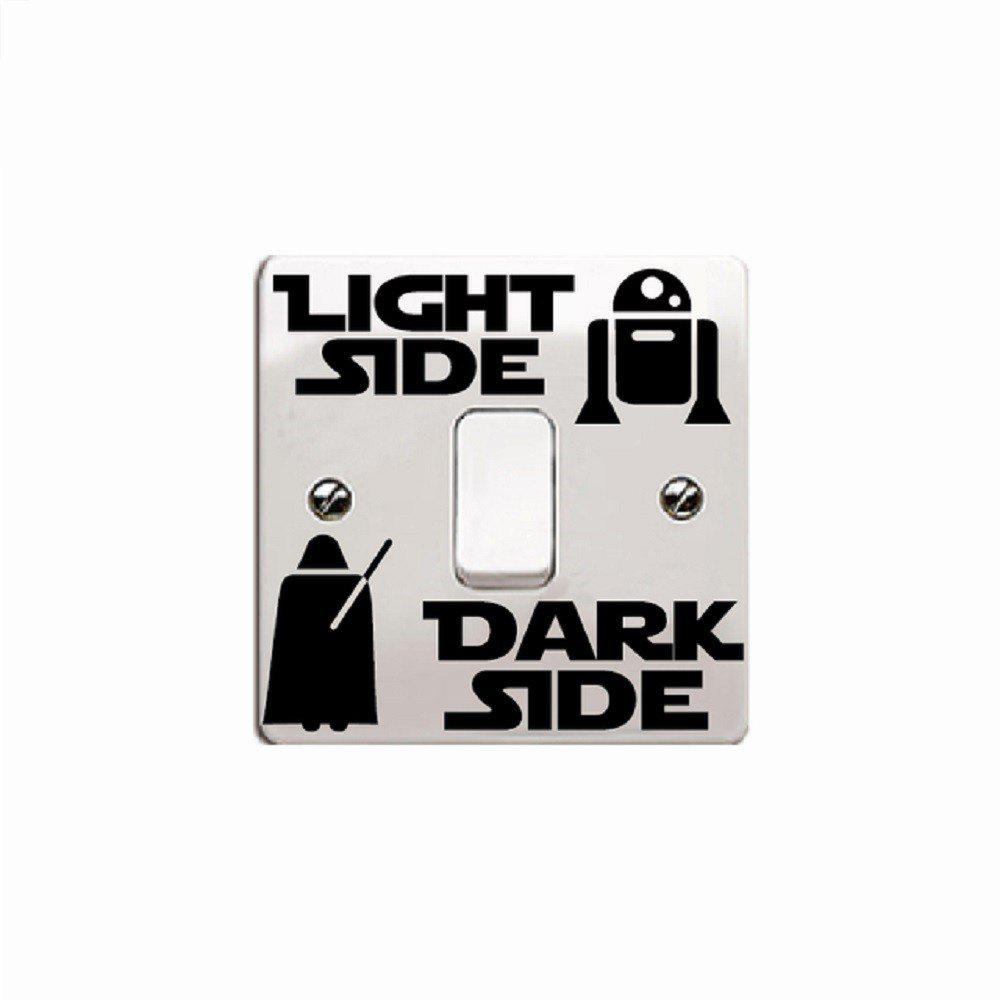 Dark Side Light Side Switch Sticker Cartoon Vinyl Wall Decal Home Decor dsu details about happy girls wall sticker vinyl decal home room decor quote