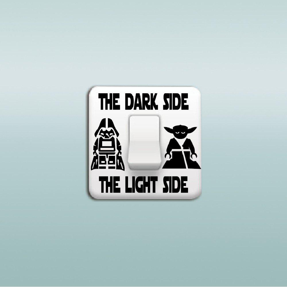 Star Wars Dark Side Light Side Switch Sticker Cartoon Decor - BLACK 7.1 X 9 CM