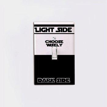 Movie Star Wars Dark Side Light Side Switch Sticker Cartoon Vinyl Wall Stickers Home Decor - BLACK 8.5 X 6.5 CM