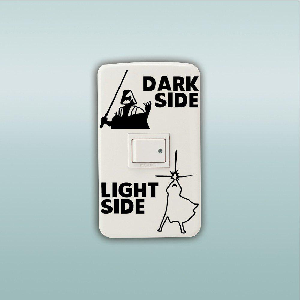 Dark Side Light Side Switch Sticker Wall Decal Home Decor - BLACK 10.9 X 7.3 CM