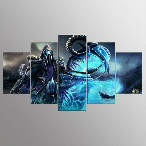 YSDAFEN 5 Pieces Dota 2 Wall Art Canvas Picture Art HD Painting For Living Room - COLORMIX 30X40CMX2+30X60CMX2+30X80CMX1(12X16INCHX2+12X24INC