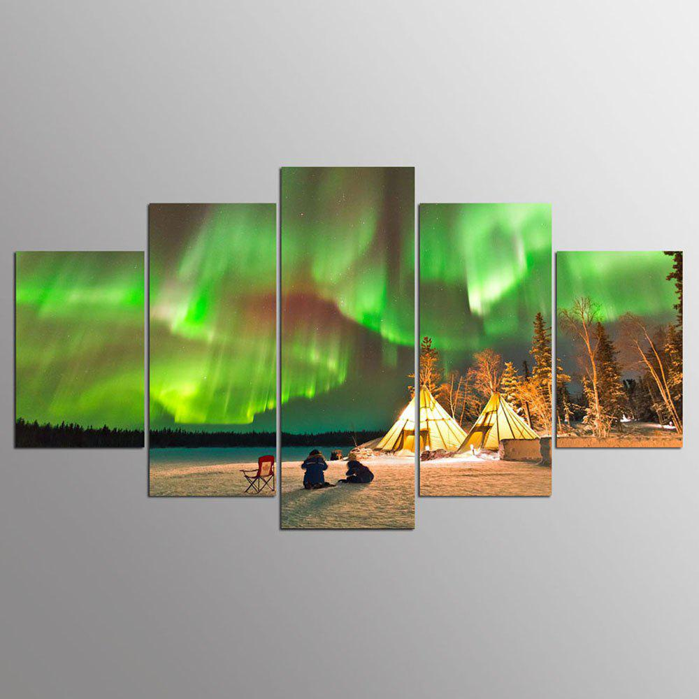 YSDAFEN 5 Pcs Creative Vision Starry Sky Modern Canvas Pictures For Living Home Decor - COLORMIX 30X40CMX2+30X60CMX2+30X80CMX1(12X16INCHX2+12X24INC
