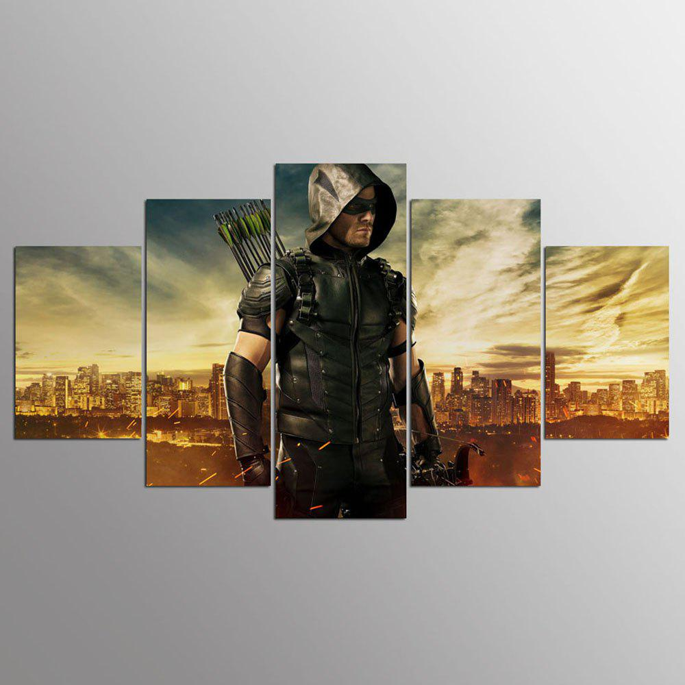 YSDAFEN Green Arrow Man TV Series Painting Canvas Print Room Decor - COLORMIX 30X40CMX2+30X60CMX2+30X80CMX1(12X16INCHX2+12X24INC