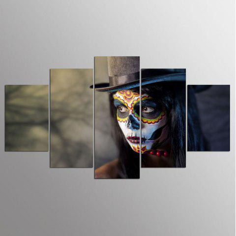 YSDAFEN 5 Piece Beauty And The Beast Decoration for Home Canvas Painting For Living Room - COLORMIX 30X40CMX2+30X60CMX2+30X80CMX1(12X16INCHX2+12X24INC