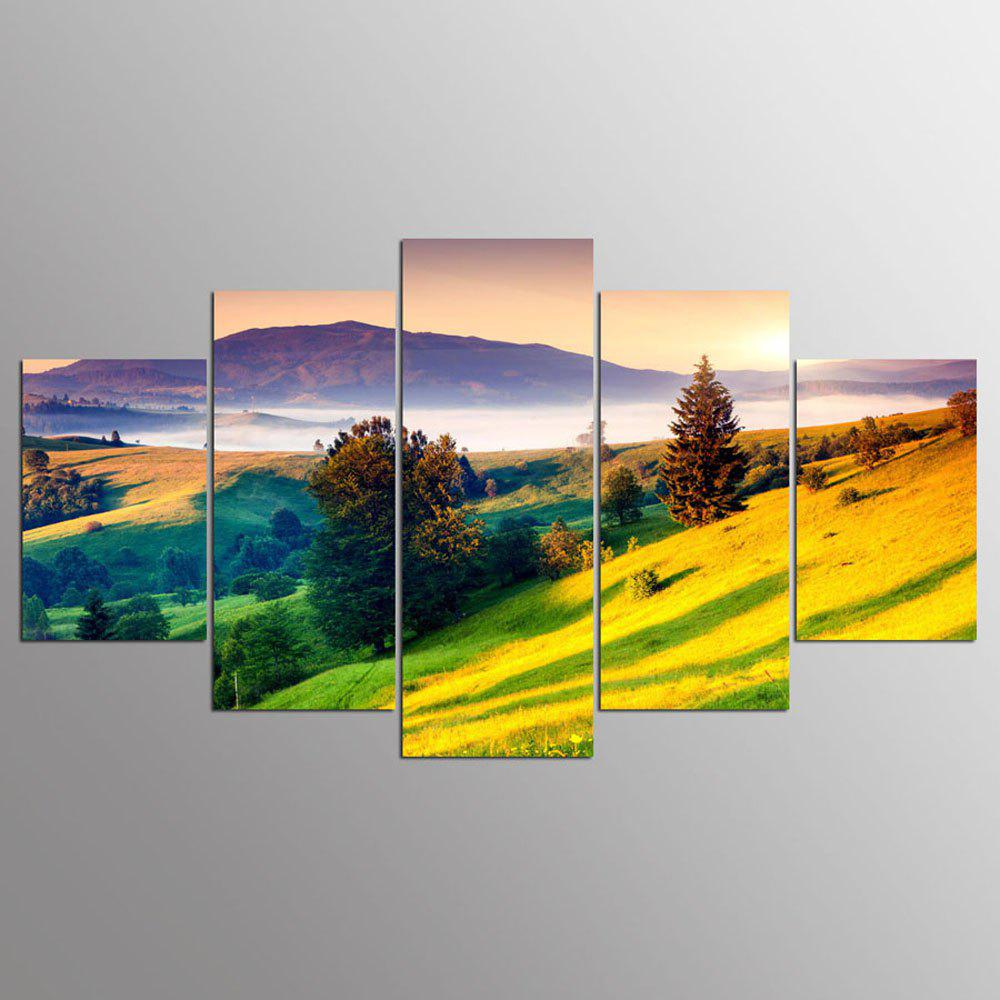 YSDAFEN 5 Panel Modern Mountains Painting Picture Canvas Wall For Living Room - COLORMIX 30X40CMX2+30X60CMX2+30X80CMX1(12X16INCHX2+12X24INC