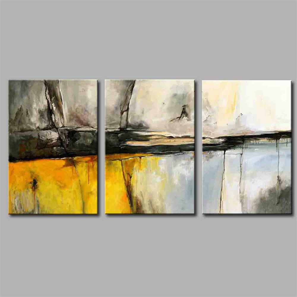 Hua Tuo Abstract Style Stretched Frame Ready To Hang  Size 50 x 70CM A1704 - COLORMIX 20 X 28 INCH (50CM X 70CM)