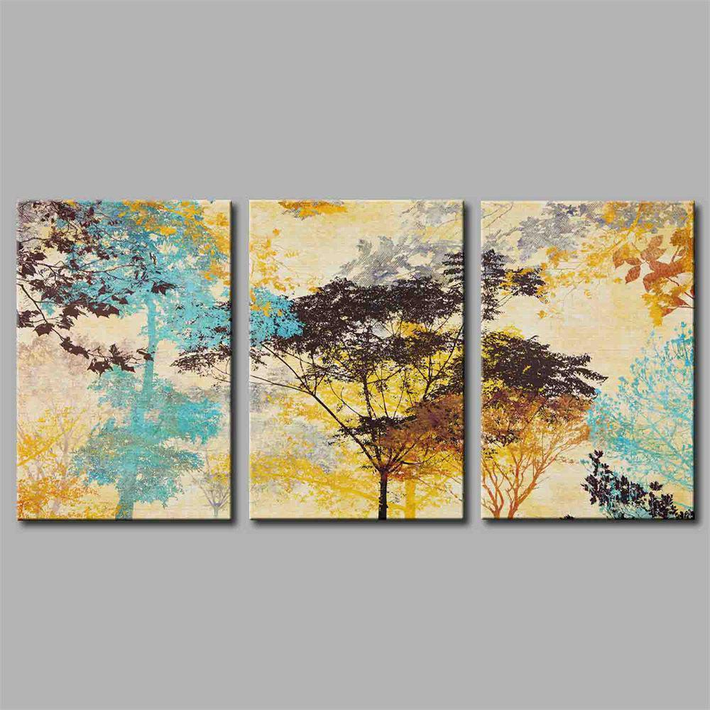 Hua Tuo Plant Style Stretched Frame Ready To Hang  Size 50 x 70CM A1705 - COLORMIX 20 X 28 INCH (50CM X 70CM)