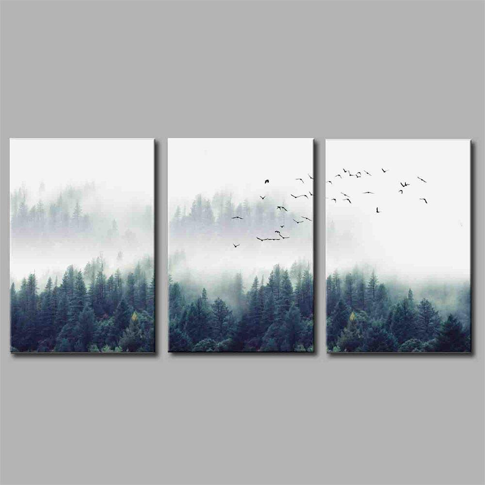 Hua Tuo Landscape Style Stretched Frame Ready To Hang Size 50 x 70CM A1716 - GREEN 20 X 28 INCH (50CM X 70CM)