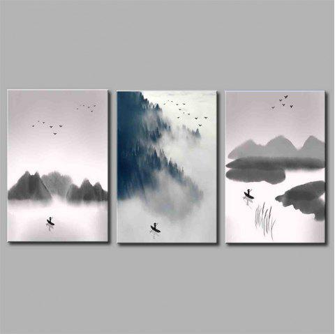 Hua Tuo Landscape Style Stretched Frame Ready To Hang  Size 50 x 70CM A1718 - GREY 20 X 28 INCH (50CM X 70CM)
