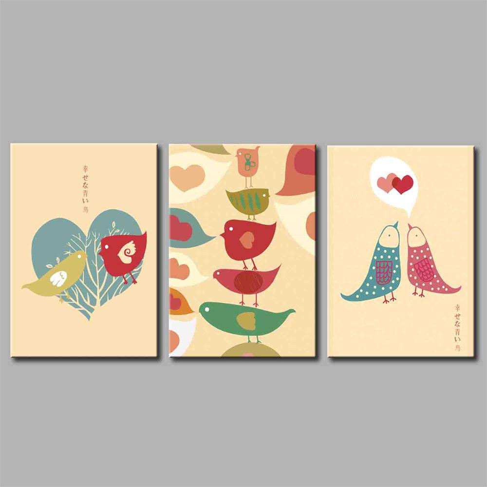 Hua Tuo Bird Style Stretched Frame Ready To Hang Size 50 x 70CM A1721 - COLORFUL 20 X 28 INCH (50CM X 70CM)