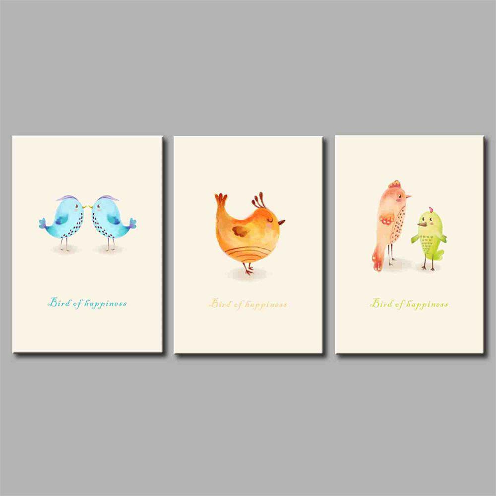 Hua Tuo Chick Style Stretched Frame Ready To Hang Size 50 x 70CM A1722 - COLORFUL 20 X 28 INCH (50CM X 70CM)
