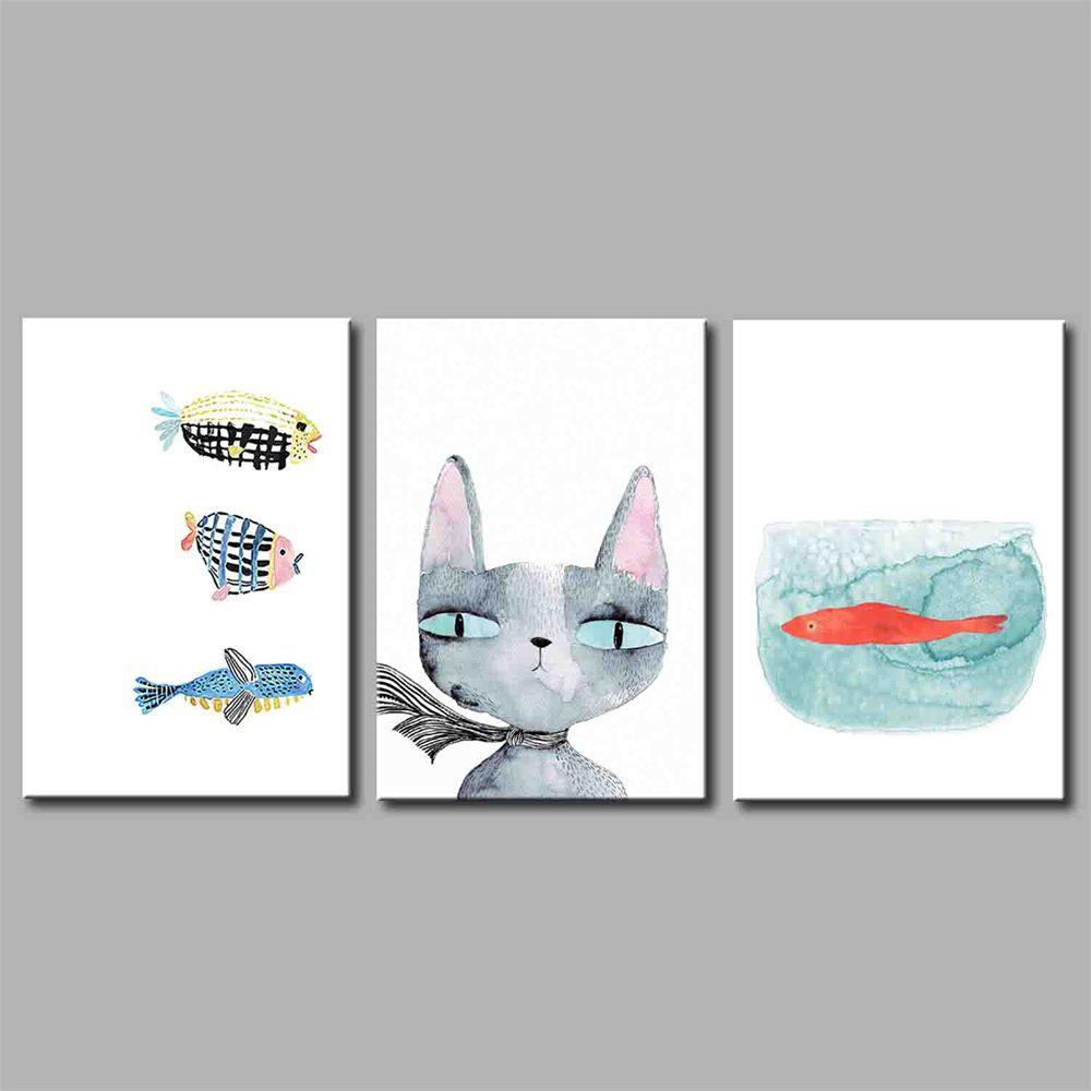 Hua Tuo Animal Style Stretched Frame Ready To Hang Size 50 x 70CM A1724 - COLORFUL 20 X 28 INCH (50CM X 70CM)